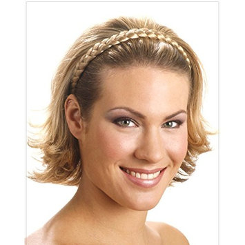 Mia Jumbo Braidie-Beautiful Braided Headband Made of Synthetic/Faux Wig Hair-Measures 0.75 Inches Wide-Dark Brown Color-Elastic, One Size Fits All (1 piece per package)