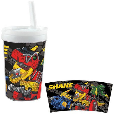 Personalized Power Rangers Dino Charge Dinozords Sippy Cup