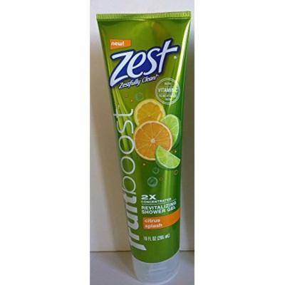 2 Pack Zest Fruitboost Revitalizing Shower Gel Citrus Splash 10oz Each