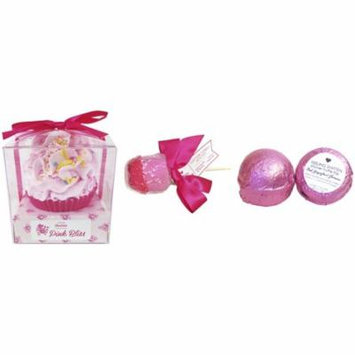 Feeling Smitten Large Pink Bliss Cupcake Bath Bomb - Pink Grapefruit Shower Truffle - Cotton Candy Bath Pop