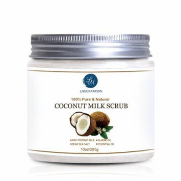 Natural Coconut Milk Scrub Body Scrub and Facial Scrub for Deep Cleansing, Exfoliation, Pore Minimizer 10oz Big Capacity,Nourish And Hydrate Your Complexion,Anti-aging Moisturizes Skin Scrubs