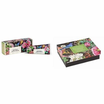 Michel Design Works Botanical Garden Triple Milled Double Soap Box Set and Natural Hand Cream