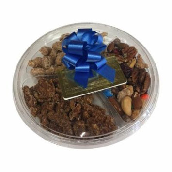 Nut Lovers Gift Pack Frosted Cinnamon Vanilla Cashews Pecans with Bow and Card