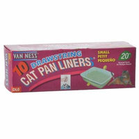 Van Ness Drawstring Cat Pan Liners Small (10 Pack) - Pack of 3