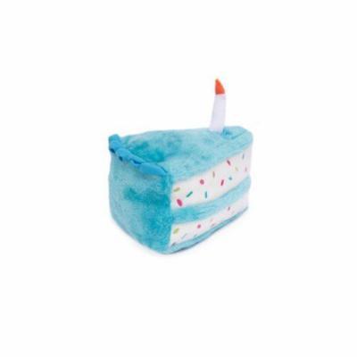 ZippyPaws Plush Birthday Cake Dog Toy - Blue - One Size
