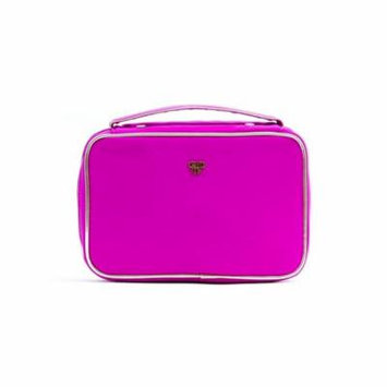 PurseN Lexi Travel Cosmetic Makeup Organizer RIng Binder System - Pink Bling