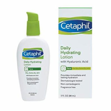 2 Pack Cetaphil Daily Hydrating Facial Lotion, 3 fl oz