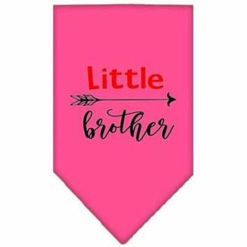 Little Brother Screen Print Bandana Bright Pink Large