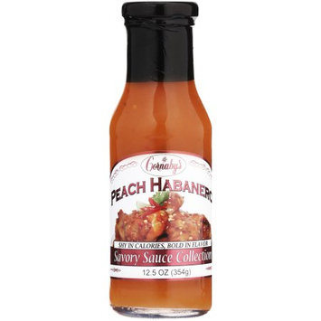 Cornabys Llc Cornaby's Savory Sauce Collection Peach Habanero Sauce 12.5 oz. Bottle