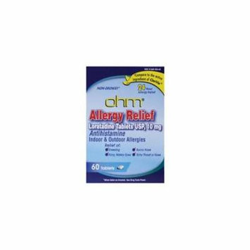 Loratadine Allergy Relief 10 mg 60 Tabs by Ohm