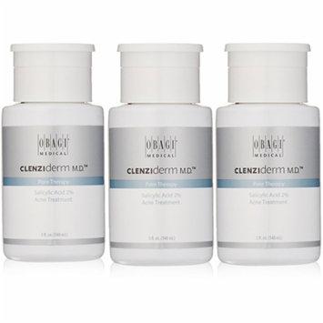 Obagi Clenziderm MD Pore Therapy Salicylic Acid 2% Acne Treatment 5 oz. 3 Pack