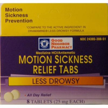 GNP Motion Sickness Relief Tabs (8 tablets)
