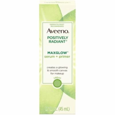 6 Pack - AVEENO Positively Radiant MaxGlow Hydrating Face Serum + Primer with Moisture Rich Soy & Kiwi Complex 1.5 oz