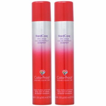 ColorProof HardCore Epic Hold Protect Hairspray 9oz (Pack of 2)