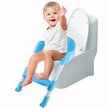 CLEARANCE Potty Ladder Potty Trainer Toilet Seat Kids Toddler Potty Training Toilet Trainer Safety Seat Chair Step Ladder(BLUE)