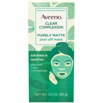 3 Pack - AVEENO Clear Complexion Pure Matte Peel Off Face Mask with Alpha Hydroxy Acids, Soy & Pomegranate for Clearer-L