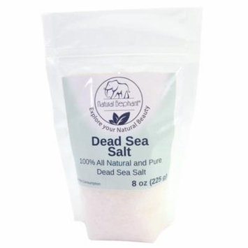 Dead Sea Salt Coarse Grain 8 oz (226 g) by Natural Elephant 100% Natural & Pure for Psoriasis Eczema Acne & Other Dermatological Needs