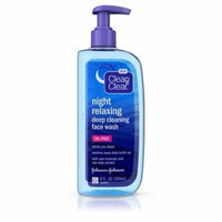 Clean & Clear 1117788 Face Wash Night Relaxing 8-3-8 Fluid Ounce