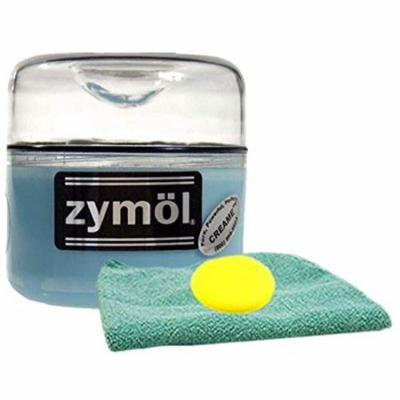 Zymol Creame Wax (8 oz.), Bundled Microfiber Cloth & Foam Pad (3 Items)