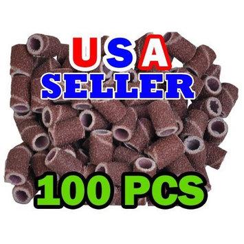 100 Pc Professional Sanding Bands Nail Manicure #80 Grit FILE SAND PIECES SET