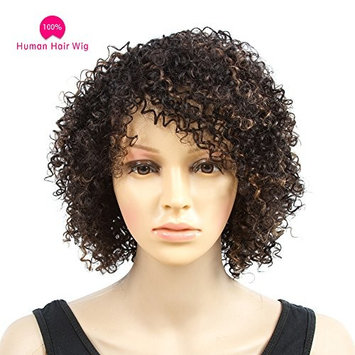 Befunny Curly Wigs for Black Women Short Jerry Kinky Afro Human Hair Wigs For Women Soft Fluffy None Lace Black Hair Wigs
