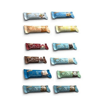 ONE Protein Bar, 12 Flavor Super Variety Pack, 12 Pack, Gluten-Free Protein Bars with High Protein (20g) and Low Sugar (1g), Guilt Free Snacking for Healthy Diets