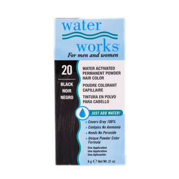 Water Works Activated Permanent Powder Haircolor (Color : #20 Black)