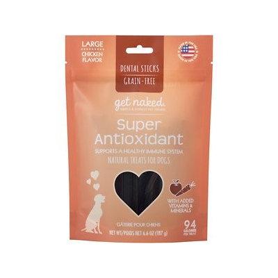 Get Naked Super Antioxidant Grain Free Dental Chew Sticks, Large 6.6oz