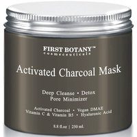 The BEST Facial Mask - Best for Facial Treatment, Minimizes Pores & Reduces Wrinkles, Acne Scars, Blackheads & Cellulite - Great as Face Mask & Body Cleanse (Charcoal)