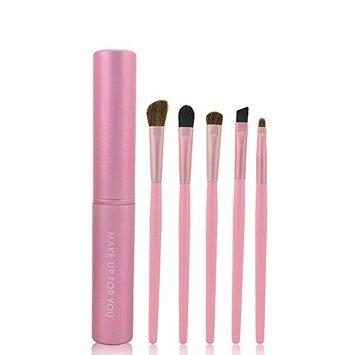 LIKESIDE 5Pcs Professional Makeup Eye Eyeshadow Brush Brushes Cosmetic Set+Round Tube