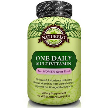 Naturelo One Daily Multivitamin for Women - IRON FREE - 60 Capsules 2 Month Supply