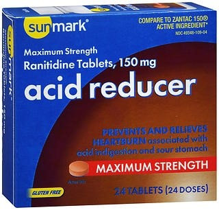 sunmark Antacid 150 mg Strength Tablets, 24 per Box