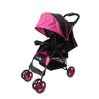Wonder Buggy Mimmo Deluxe Lightweight One-Hand Folding Multi-Position Compact Stroller - Pink