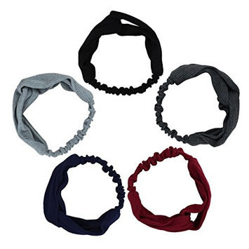 3pcs Stretchy Athletic Bandana Headbands Head Wrap Yoga Headband Head Scarf Best Looking Head Band for Sports or Exercise FD21