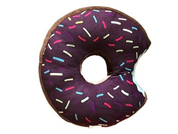 Ubermade Donut Plush Pillow Stuffed Cushion Soft Toy Decor Gift, 14 Inches (Brown Chocolate)