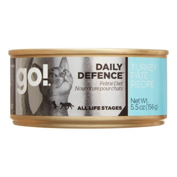 Petcurean Go! Daily Defence Turkey Pate All Stages Wet Cat Food, 5.5 Oz (Case of 24)