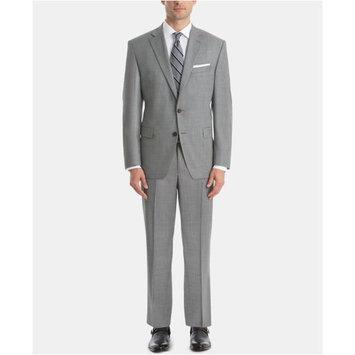Men's UltraFlex Classic-Fit Sharkskin Wool Suit Separates