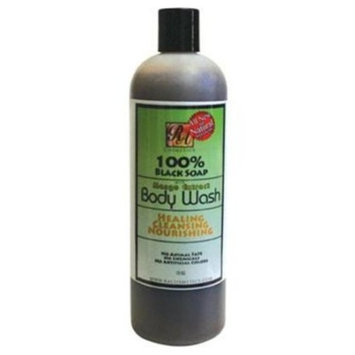 100% Black Soap Body Wash Mango Scent 13 Fl Oz Ra Cosmetics by Trifing
