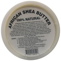afrikaimports Organic African Shea Butter, 100% natural, White, 16 oz.