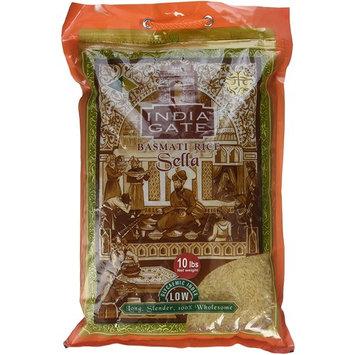 India Gate Parboiled Basmati Rice Bag, Golden Sella, 10 pounds [India Gate Parboiled Sella Basmati Rice]