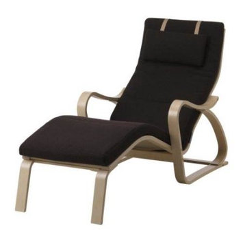 Body Balance System Massage Chair - Cotton White Seat - Birch Wood Frame - 22