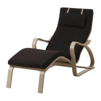Body Balance System Massage Chair - Cotton Green Seat - Birch Wood Frame - 22