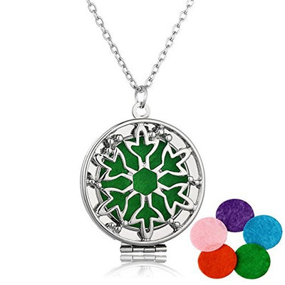 Lucky Star Aromatherapy Essential Oil Diffuser Pendant Necklace Hollow Perfume Photo Locket Necklace