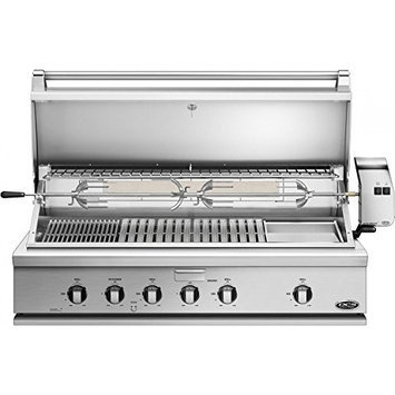 DCS BH148RGIL 48 Stainless Steel Liquid Propane Open Burner Grill