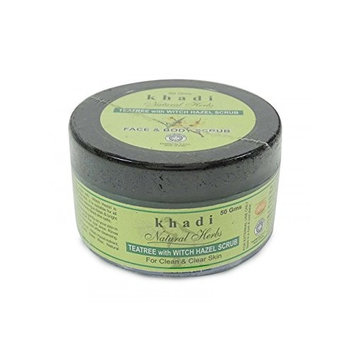 Khadi Natural Herbs Tea Tree With Witch Hazel Scrub For Clean & Clear Skin 50 Gm