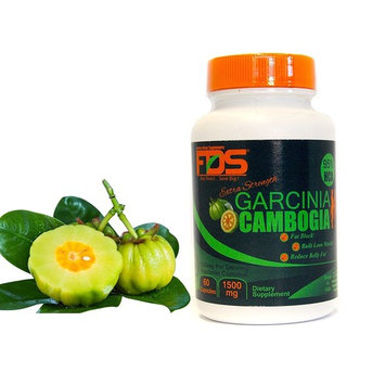 FDS Extra Strength Garcinia Cambogia, 95% HCA, Highest absorption formula 1500 Mg 60 Vegetarian capsule's - Appetite Suppressant - Dietary Supplements