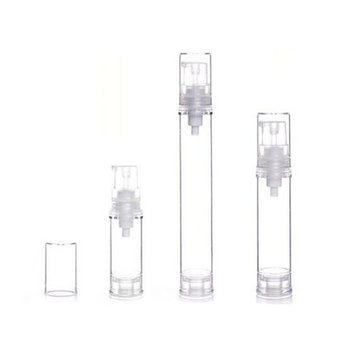 5/10/15ML Airless Pump Bottle-Empty Refillable Clear Airless Vacuum Pump Cream Lotion Bottle Travel Bottles Toiletries Liquid Container for Cosmetic Make-up Pack of 6
