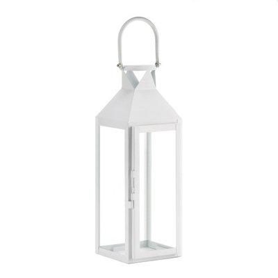 Eastwind Wholesale Gift Distributors Zingz & Thingz 57071044 White Manhatten Candle Lantern