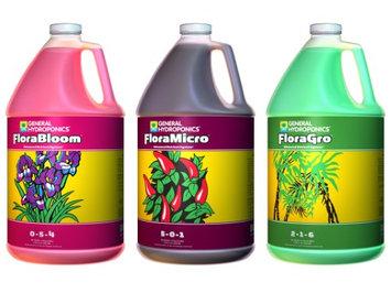 General Hydroponics 3 Gallon Plant Growth Formula / FloraMicro, FloraGro, & FloraBloom