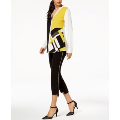 Colorblocked Top & Step-Hem Pants, Created for Macy's